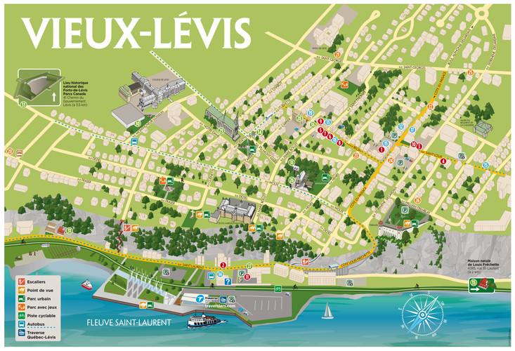Carte du Vieux-Lévis