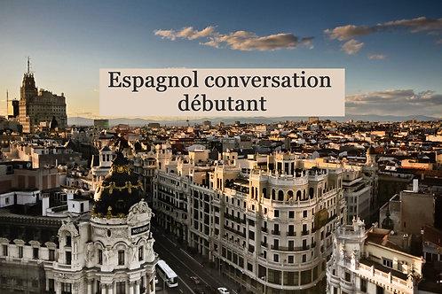 Espagnol conversation débutant