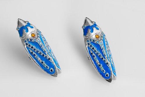 Leaf Hopper Earrings (Blue)