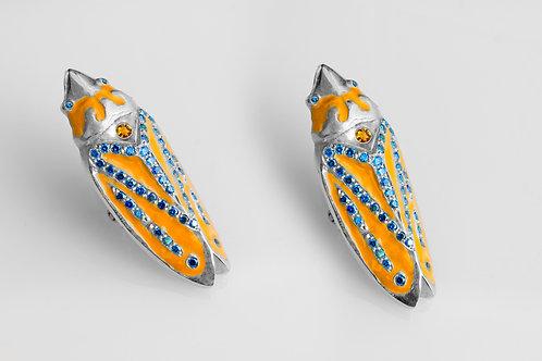 Leaf Hopper Earrings (Orange)
