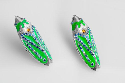 Leaf Hopper Earrings (Green)