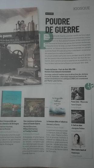 Article Yann CREPIN dans le magazine Kiosque du FINISTERE