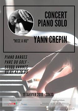 Concert Piano Barge 19 janvier à Vannes - FRANCE
