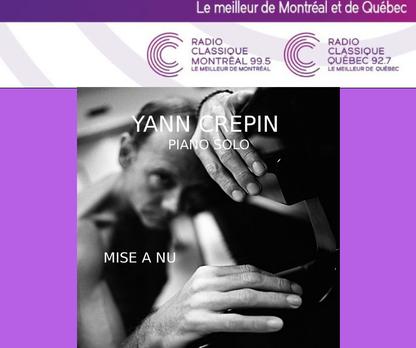 Yann Crépin écouté sur radio CLASSIQUE au Québec