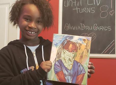 Collage Art Teacher Ilene Gold takes National Geographic Magazines and creates art.  OliviaDruCares