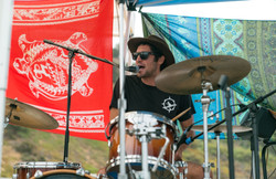 RiverDog in the flesh and drumming