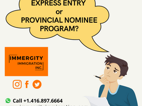 Express Entry vs Provincial Nominee Program