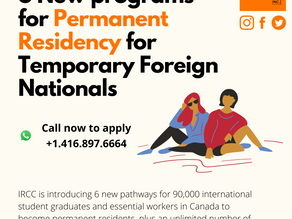 6 new immigration programs under new public policy in Canada.