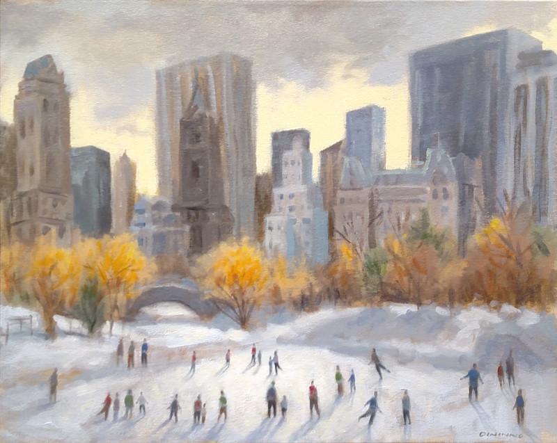 """Skating"" - acrylic on canvas"