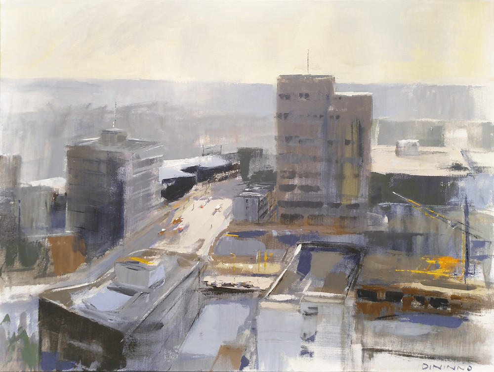 """Top of the City"" - acrylic on canvas - 30""x40"""