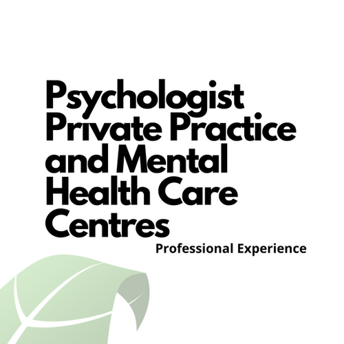 Psychologist Private Practice and Mental Health Care Centres