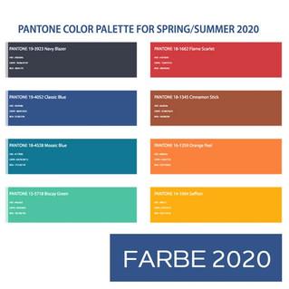 Die Trendfarben für Frühjahr/Sommer 2020