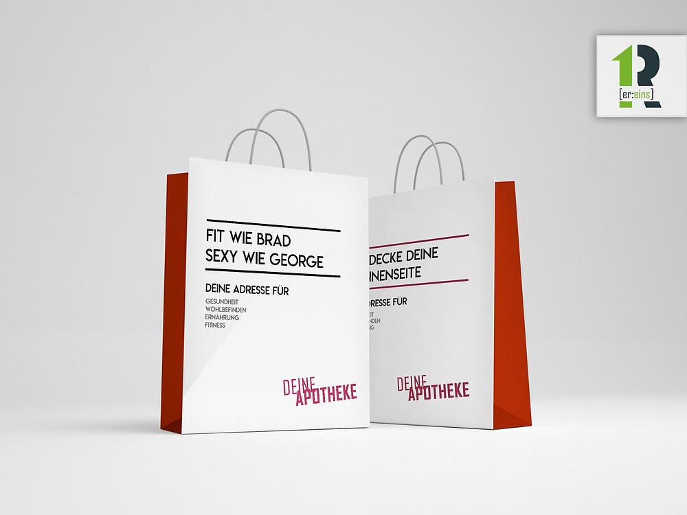 Einkaufstasche, Einkaufstüte, Apotheke Burglengenfeld, Werbeagentur, Werbestudio