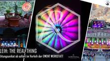 Spektakulär: THE REAL THING Beleuchtungsschirme