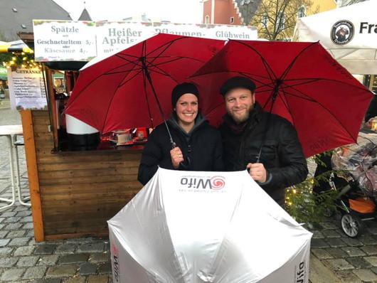 Adventsmarkt Burglengenfeld Schirme