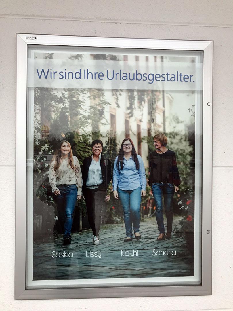 Högl Reisen, Reisebüro Högl, XXL Print, Burglengenfeld