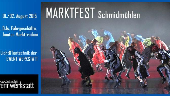 Tonanlage und Licht für Marktfest