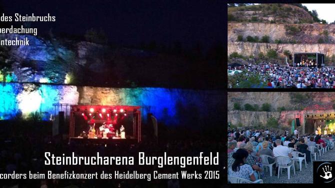 Tontechnik, Bühne und Licht im Steinbruch