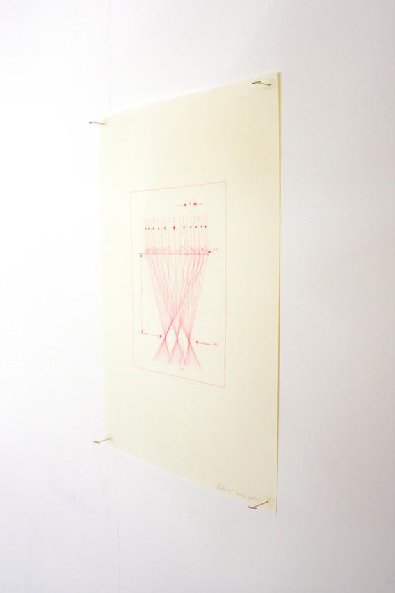 Mehrnaz Rohbakhsh, Study on Human Optics, coloured pencil on paper, 2020.
