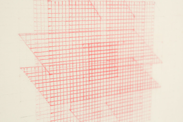 Mehrnaz Rohbakhsh, Study of Photons I, coloured pencil on paper, 2020.