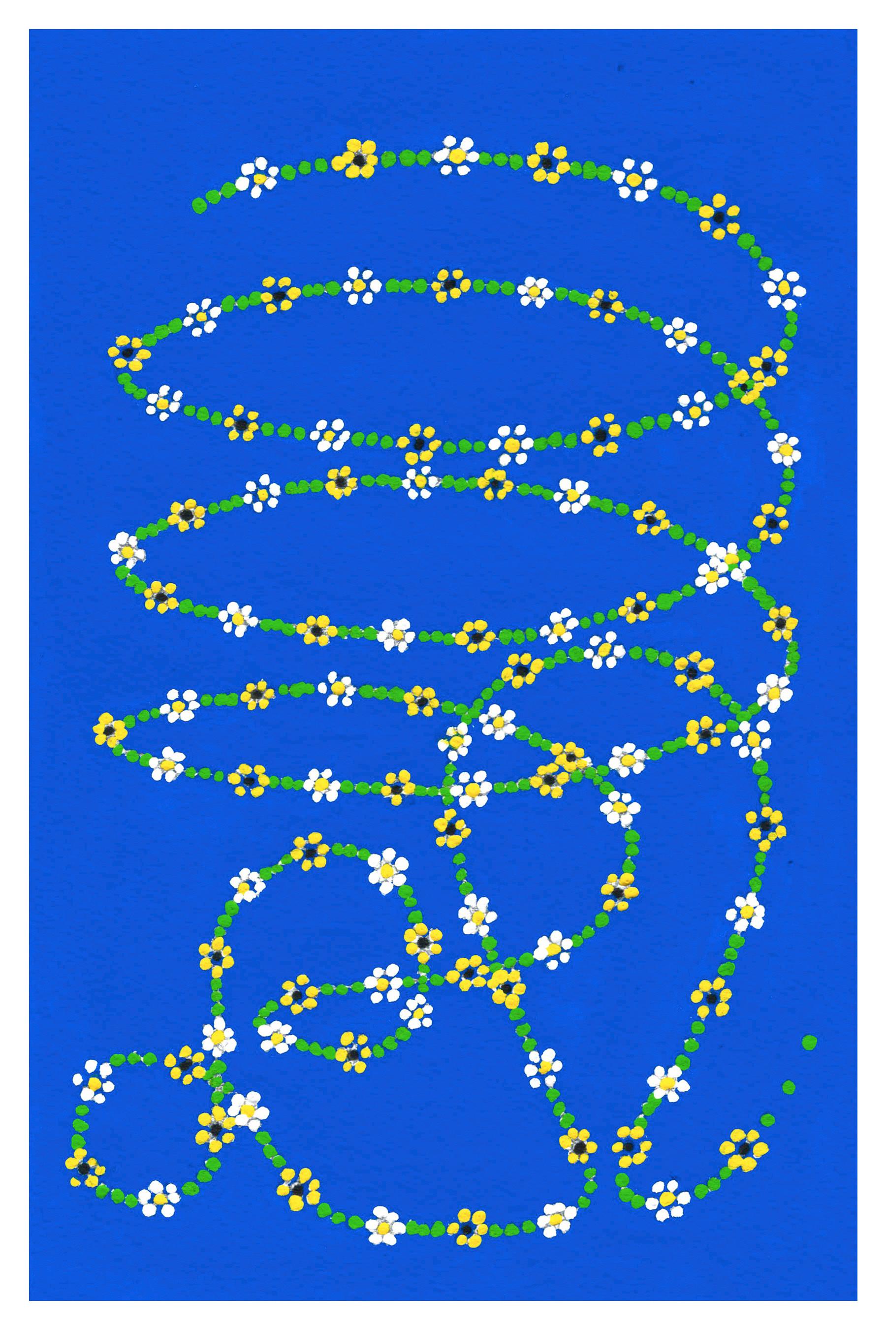 "lasso acryla-gouache on paper 6"" x 9"" 2020"
