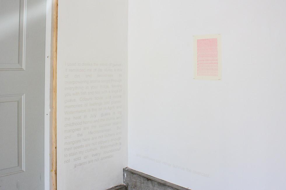 Left, Marina Fathalla and Lamis Haggag, Dust-coloured skies, 2020. Right, Mehrnaz Rohbakhsh, 2020