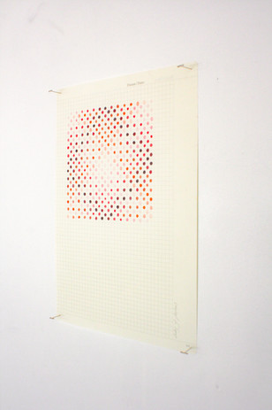 Mehrnaz Rohbakhsh, Study of Photons II, coloured pencil on paper, 2020.