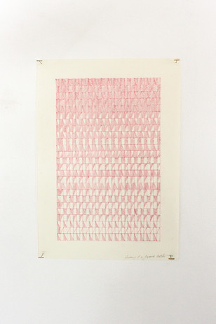 Mehrnaz Rohbakhsh, Anatomy of a Japanese Textile I, coloured pencil on paper, 2020.