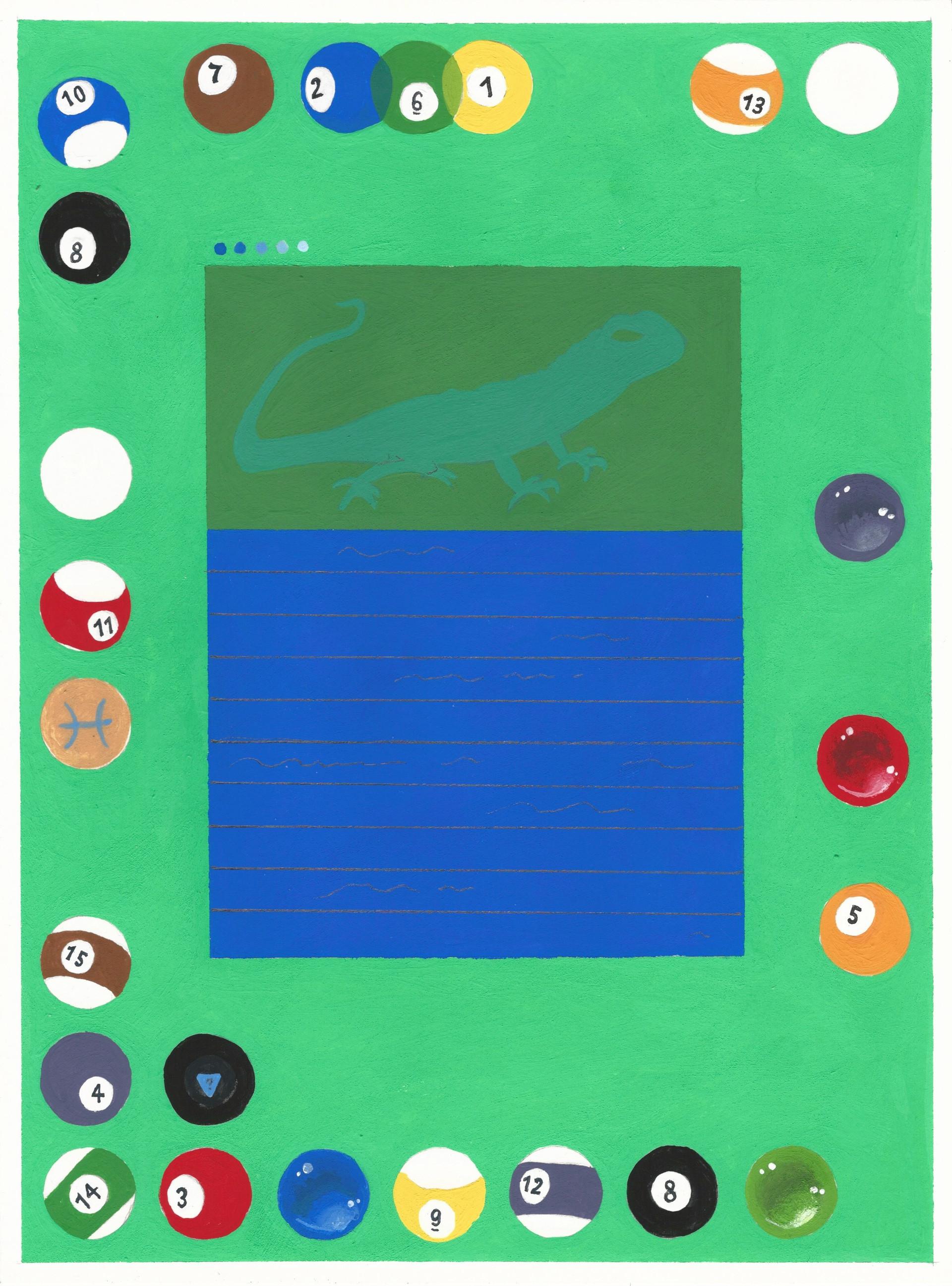 "Equip Materia acryla-gouache on paper 9"" x 12"" 2020"