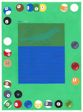 """Equip Materia acryla-gouache on paper 9"""" x 12"""" 2020 SOLD"""