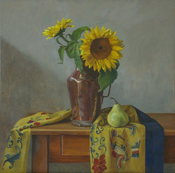 Sunflowers and Pear