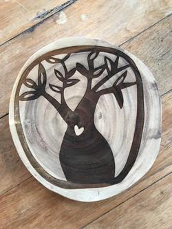Engraved Mango Timber