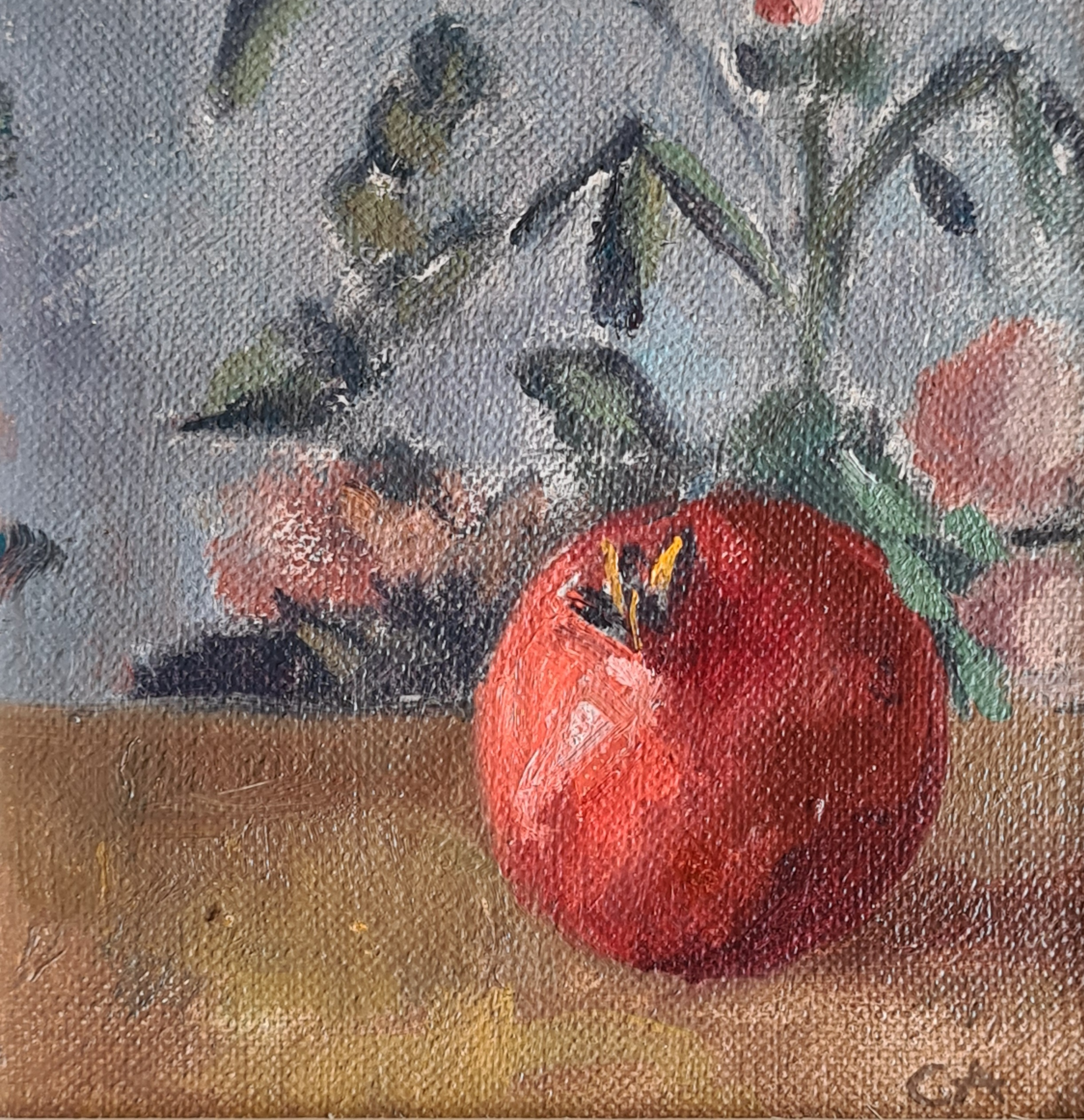 'Pomegranate with Wall Paper'