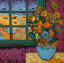 'Vincent van Gogh's Sunflowers for Tiggy'