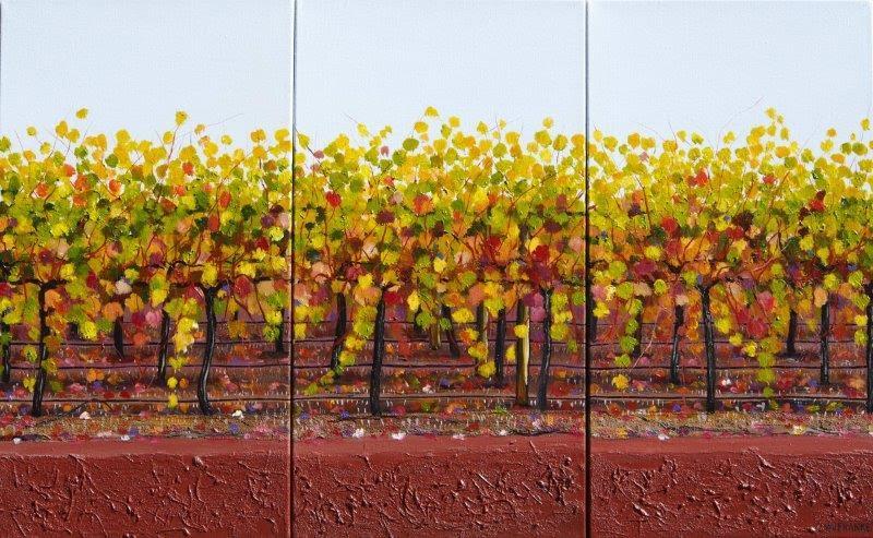 Yallingup Vines in Autumn - Triptych