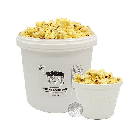 Popcorn Rømme & Gressløk 5 liter