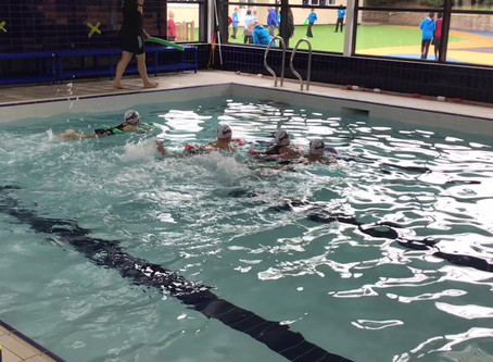 Swimming into 3A in style!