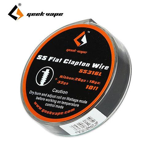 Geek Vape - Wire SS Flat Clapton 26GAx18GA + 32GA