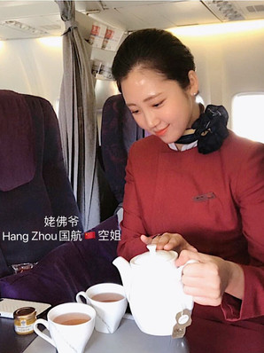上海中国🇨🇳国航空姐✈️ 英国🇬🇧留学生广州-温哥华航线 175.D.5up 长期健身蜜桃🍑臀零整容