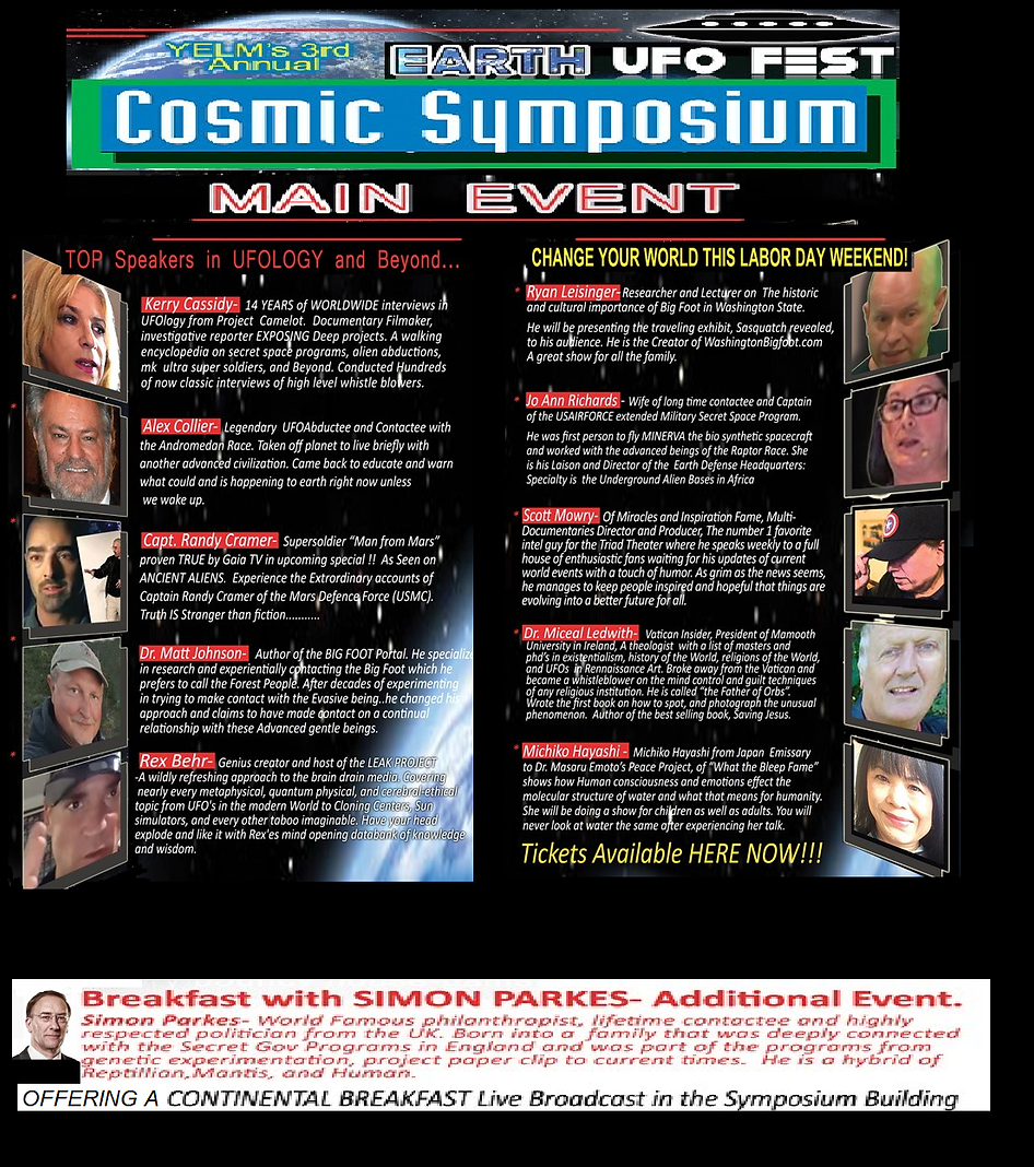 COSMIC SYMPOSIUM SPEAKERS DESCRIPTIONS F