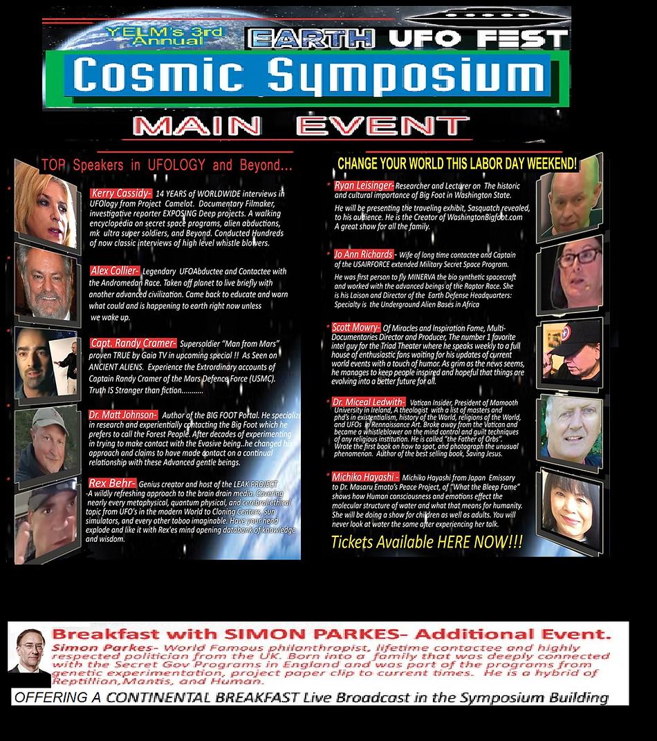 COSMIC SYMPOSIUM SPEAKERS DESCRIPTIONS F