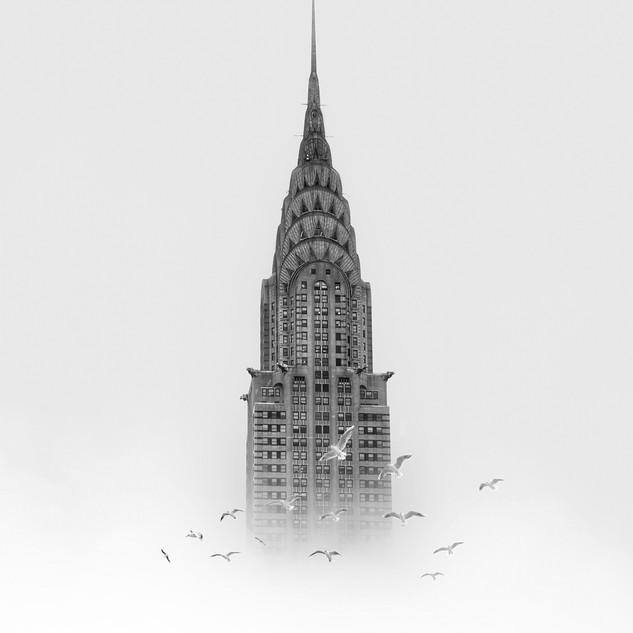 Chrysler Building wih Birds