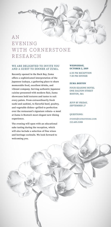 Cornerstone Event Invite