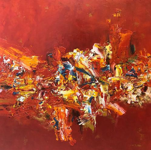 Let the Shenanigans Begin 36x36 Oil on Canvas.jpeg
