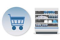 Supermercados, almacenes, bodegas, salas de cata, cámaras de conserva y congelación, restauración