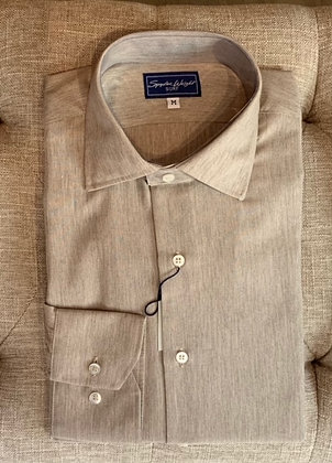 Button down long sleeve shirting / Made in Spain