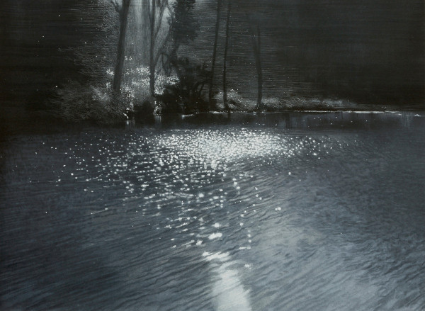 Drawing - Water, Air, Light