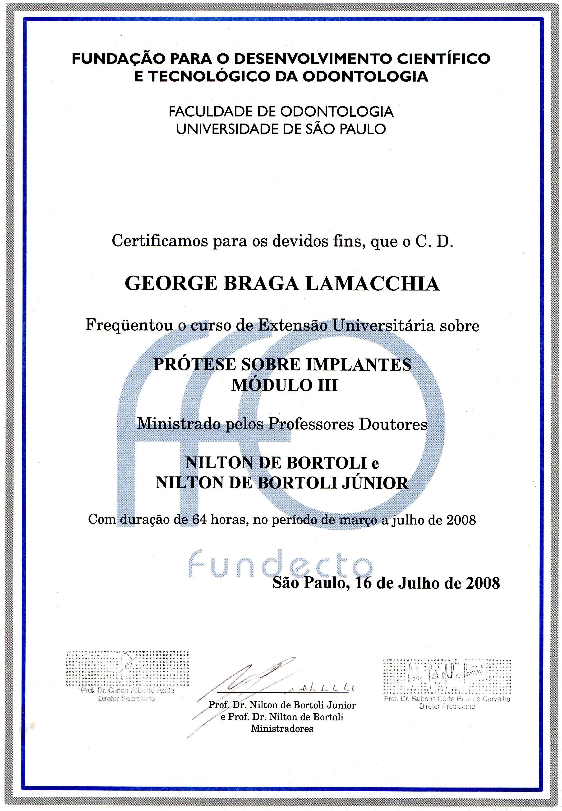 Diploma_Curso_Prótese_Sobre_Implante