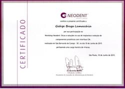 Diploma_Curso_Implante_Neodent_Soluções_em_Cone_Morse