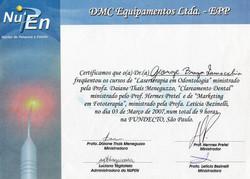 Diploma Curso - Laserterapia + Clareamento + MKT em fototerapia